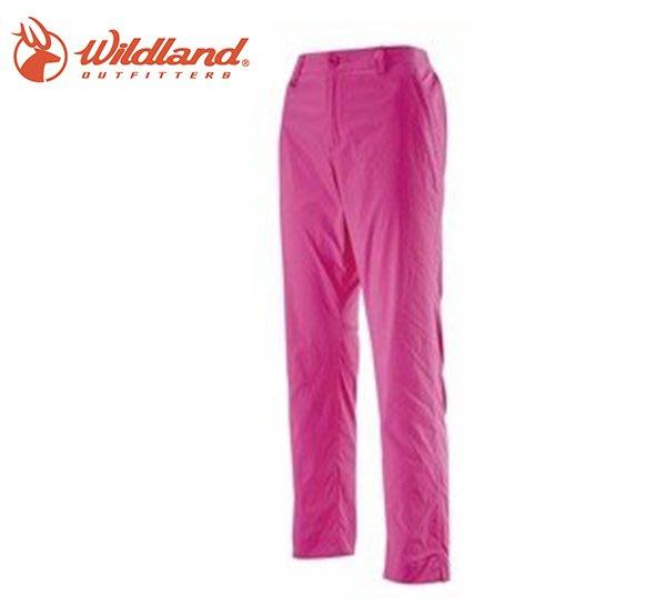 丹大戶外【Wildland】荒野 女彈性透氣抗UV九分褲 0A11331-09 桃紅