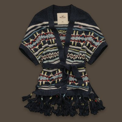 【美衣大鋪】c1 ☆ Hollister Co. 正品☆ La Jolla Shores 超特別毛衣外套 ~HCO