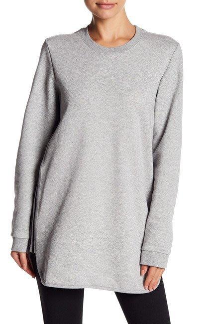 【美國鞋校】現貨 adidas Long Sleeve Q4 Sweatshirt 長版 TEE 三間線 灰色