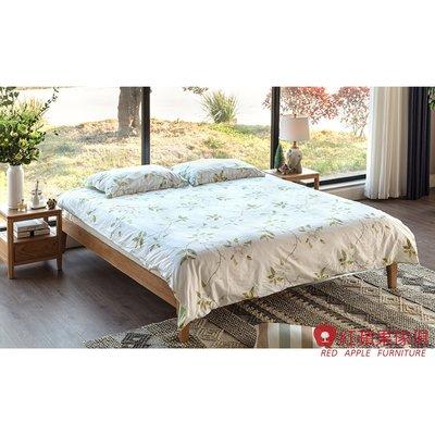 [紅蘋果傢俱] JM012 5/6尺床架 北歐風床架 日式床架 實木床架 無印風床架 簡約床架
