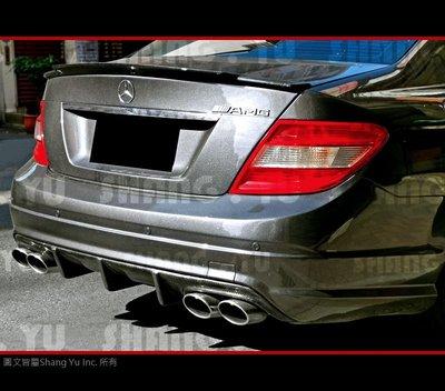 Benz C-Class W204 AMG 保桿 用 CARBON 後下巴 C300 C63 前期