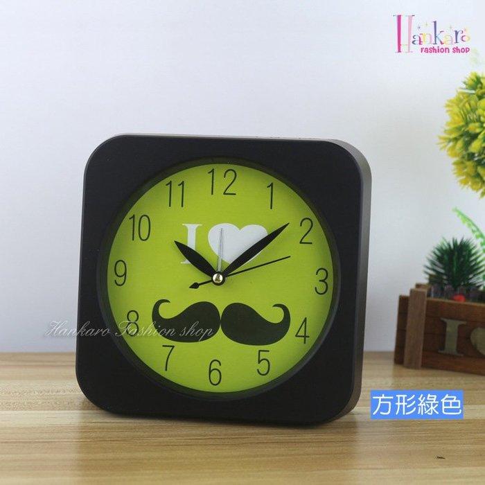 ☆[Hankaro]☆創意時尚鬍子鬧鐘(方形)