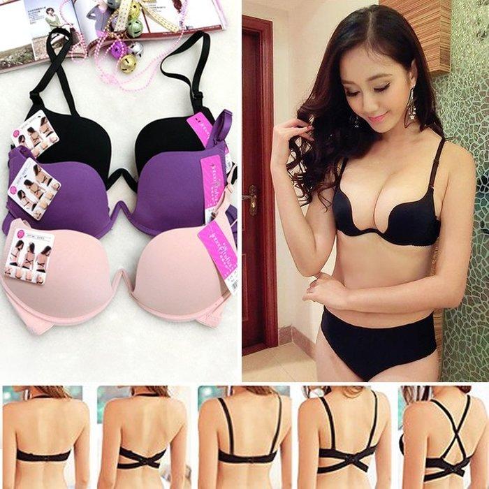 【JD Shop】W鋼圈厚墊性感美背多變內衣 胸罩 隱形胸罩 洋裝 美背內衣
