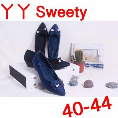 ☆(( 丫 丫 Sweety )) ☆。大尺碼女鞋。尖頭軟式造型低跟鞋40-44(D568)下標時以即時庫存為主