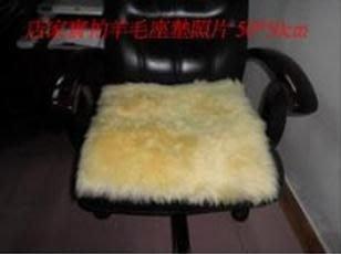 椅墊/沙發座墊/羊毛座墊/皮毛一體羊毛座墊50*50cm