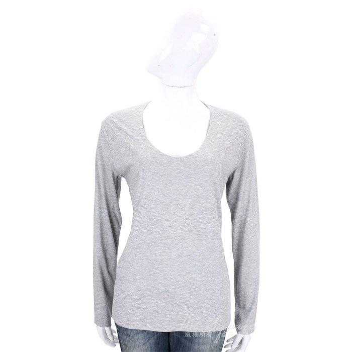 米蘭廣場 ALLUDE 灰色素面圓領棉質長袖上衣 1710077-06