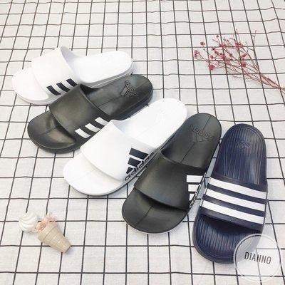 帝安諾-ADIDAS DURAMO SLIDE 一體成形 防水拖鞋 藍白 深藍 G15892 CM7928 CG3540
