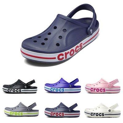 全館特惠 CROCS/卡駱馳 夏季新款 小童貝雅卡駱班 男女涼拖鞋 情侶鞋親子鞋 洞洞鞋 貝雅兒童涼鞋