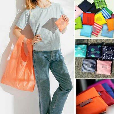 【折疊手提購物袋-55*33cm-10個/組】環保折疊購物袋便攜超市手提袋-7270701