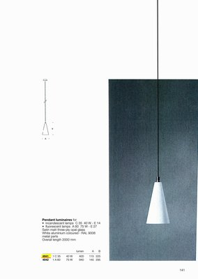 德國名牌 LIMBURG PENDANT LUMINAIRES FOR 1 X C35 40W E14 LAMP MODEL NO. 4941