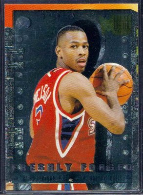 96-97 METAL FRESHLY FORGED #5 8 ALLEN IVERSON RC