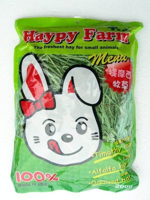 *優比寵物*美國Haypy Farm 提摩西牧草Timothy hay(200公克) -優惠價--