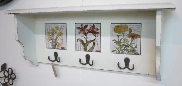 【布拉格歐風傢俱】復古刷白鄉村風 三磚六勾 掛架 衣帽掛架  置物架 裝飾掛架 層板架