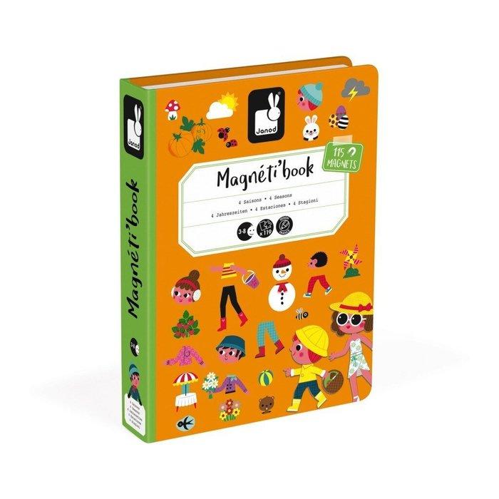 【魔法世界】法國 Janod 創意兒童智玩 磁鐵遊戲書-四季