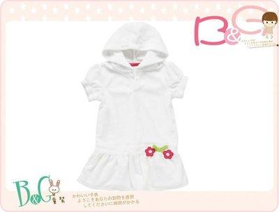 【B& G童裝】正品美國進口Crazy8 Flower Terry Hooded Swim Cover-Up花朵圖白色泳裝罩衣2,4yrs