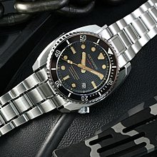 NETHUNS AUTOMATIC WATCH 黑色格仔紋面 手錶 600m防水45mm LAVA II - STEEL LS231