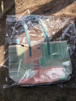 ╭☆包媽子店☆LACOSTE 彩色條紋款單肩手提包/購物袋
