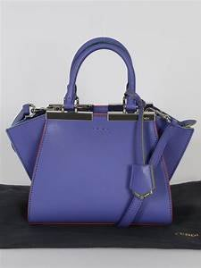 降價 近全新 真品  FENDI 3 JOURS MINI    藍紫  肩背 手提 兩用包