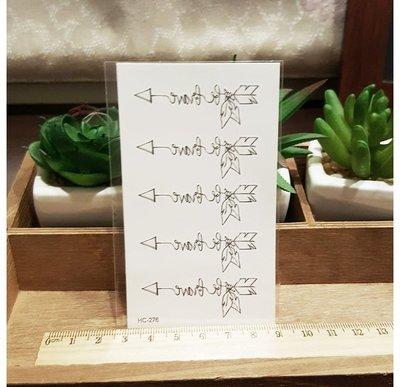 【萌古屋】箭型le love線條 - 男女防水紋身貼紙原宿刺青貼紙 HC-276
