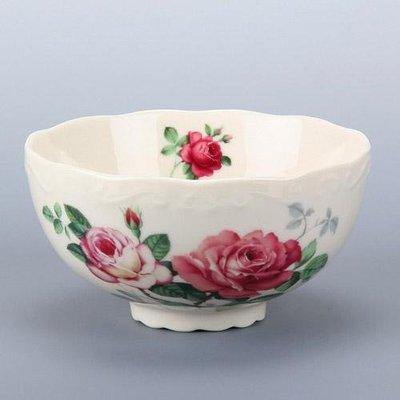日本【英蘭玫瑰 English Rose】象牙白茶碗