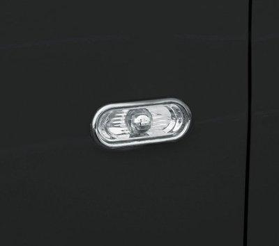 圓夢工廠 VW 福斯 Transporter T5 2003~2015 改裝 鍍鉻 車燈框貼 側燈框 方向燈框
