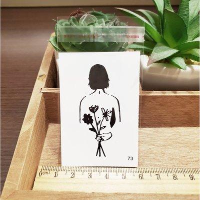 【萌古屋】百態人生73單圖 - 男女防水紋身貼紙刺青貼紙 K43