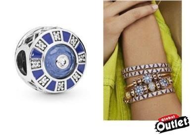 【全球購.COM】PANDORA 潘朵拉 鑲鑽新款藍色馬賽克串珠 925純銀 美國正品代購
