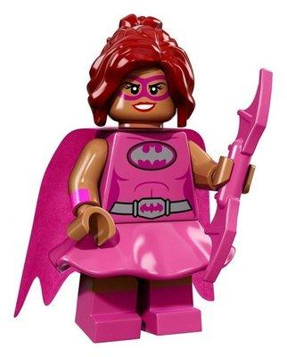 【荳荳小舖】LEGO樂高 樂高人物系列71017樂高人偶包 樂高蝙蝠俠電影#10 粉紅 蝙蝠女 芭芭拉含運250下標即售