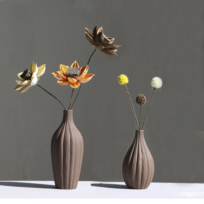 熱賣北歐復古干花陶瓷小花瓶玄關裝飾擺件客廳電視柜擺件插花花器#擺件#陶瓷#北歐