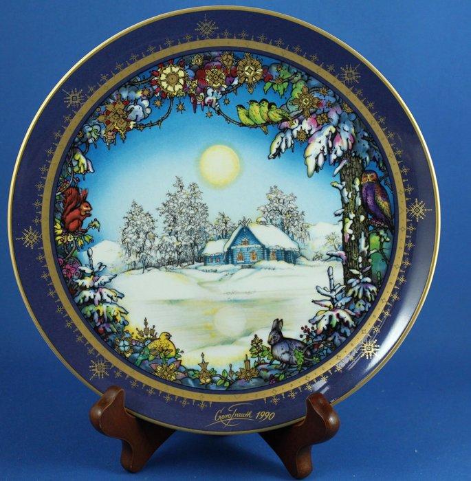 [美]德國百年名瓷 VILLEROY  & BOCH 1990年限量聖誕節紀念裝飾盤