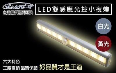 LISTAR LED 自動感應小夜燈 (白光) 光控人體感應/廚櫃燈/紅外線感應燈/櫥窗燈/玄關燈/樓梯燈