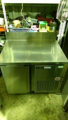 達慶餐飲設備 八里二手倉庫 道具倉庫 3尺冷藏工作台冰箱