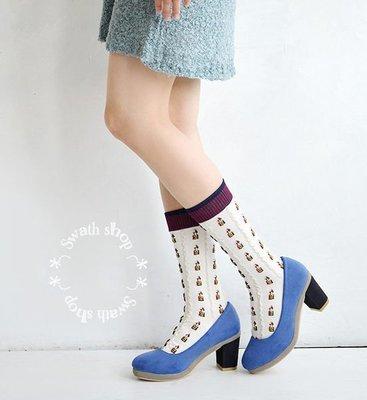 *╮S.water shop╭* 小人物 短襪/堆堆襪/中筒襪 FN#00011 共4色 (現貨)