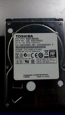 【大武郎】二手 筆電 NB 2.5吋 500G SATA 硬碟 TOSHIBA