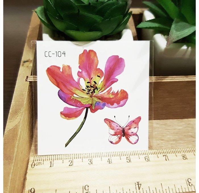 【萌古屋】花朵單圖CC-104 - 防水紋身貼紙刺青貼紙K38