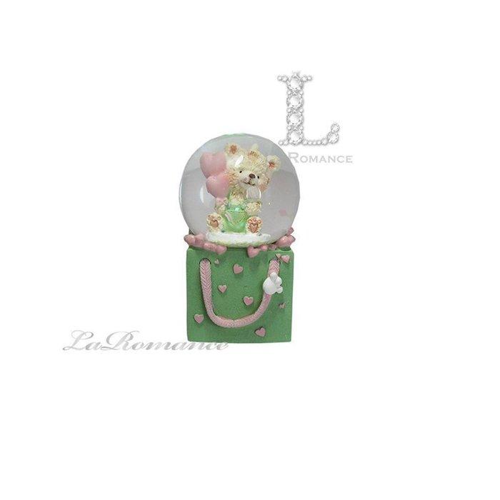 【義大利 EDG 特惠系列】 小熊禮物盒水晶球擺飾 (小) / 童趣 / 動物 / 小孩房 / 生日