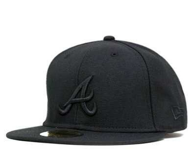 【Dangerous】NEW ERA MLB 亞特蘭大勇士 黑底黑字訂製帽 亞瑟小子
