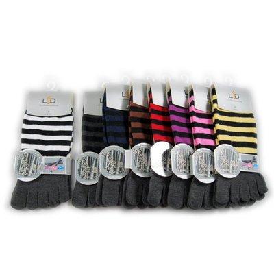 8306 LSD竹炭短式五趾襪-條紋 五趾襪 $51/雙