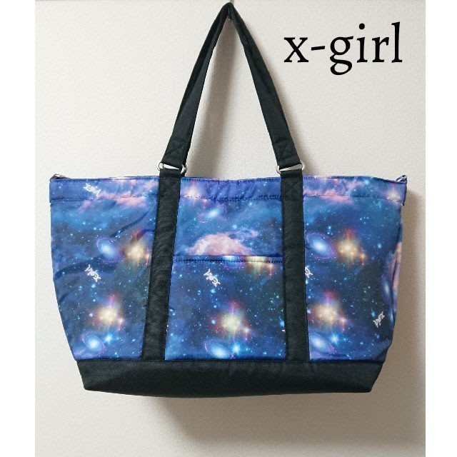 ☆Juicy☆日本 ROOTOTE 聯名 X-girl 星空 宇宙 太空 托特包 手提袋 媽媽包 肩背包 空氣包
