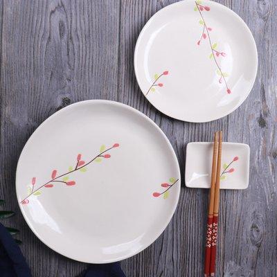 爆款酒具日式創意手繪陶瓷餐具盤子碗套裝  家用菜盤子圓盤米飯碗味碟茶壺
