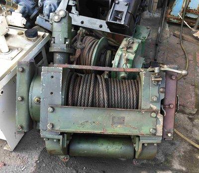 日本油壓絞盤 油壓捲揚機 軍用大型絞盤 拖板車專用(可拖挖土機,大型重機)