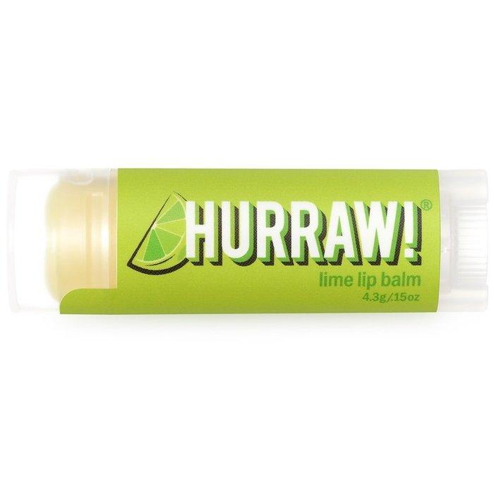 【Hurraw! Balm】優質有機與天然成分 護唇膏,萊姆味(4.3 克)【 純素系列商品 Vegan 】 | 現貨