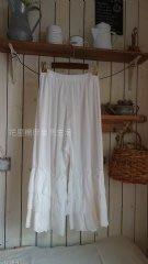【花里-棉麻自然生活】正韓韓國直送自然系森林系棉麻亞麻田園風 韓國蕾絲襯褲-蛋糕3層 米色、白色