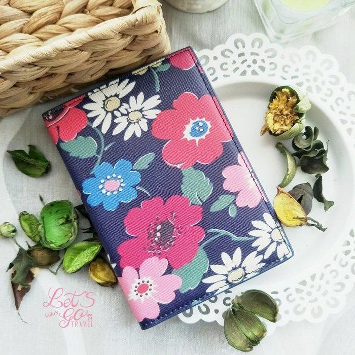 *護照套* 復古花卉PU皮印花護照夾護照套︵❉彩色大花。 Let's Go lulu's BC21