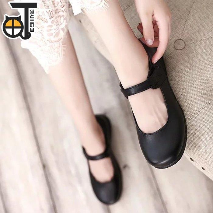 衣萊時尚 穹妹/雷姆 萬用黑色制服鞋女日式學生鞋子#COS道具#COS服裝