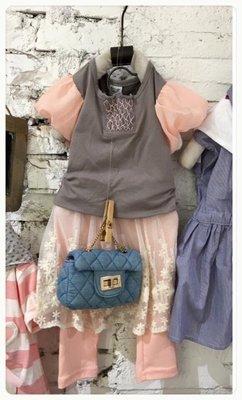 草莓糖百元 [16032843]~春夏 ~泡泡袖上衣~灰色~5~15號~