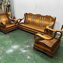 二手家具全省估價(大台北冠均 新五店)二手貨中心--通風耐用實木椅1+1+3木沙發組 木椅組 SO-9122401