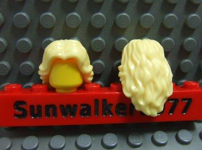 【積木1977】Lego樂高-全新 亮黃色波浪長髮 / 女生頭髮 (Bright Light Yellow)(H-09)