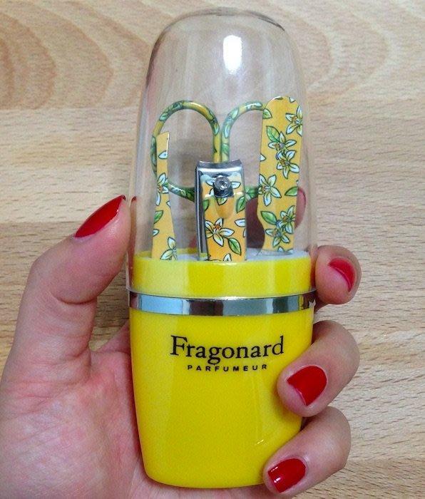 法國Fragonard法格那風格生活橙花手繪插畫風限量修容組/指甲剪刀組 現貨