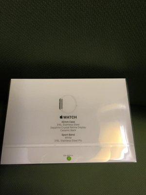 ^_^ 日本 Apple watch 42mm不鏽鋼版 白色運動錶帶17900元就賣
